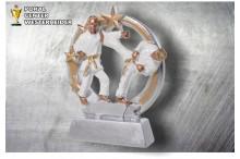 Karate Figur silber-gold ST39330