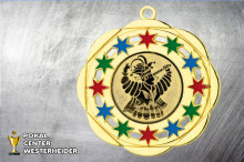 Karnevals Orden in gold-rot-grün-blau BD45A-60512