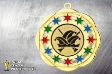 Karnevals Orden in gold-rot-grün-blau BD45A-60530