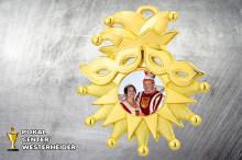 Karnevals Orden in gold BD56 mit Foto