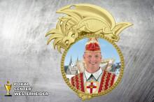 Karneval Orden in gold BD60 mit Foto