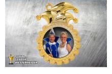 Karnevals Orden in gold ST8976-mit Foto