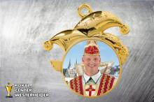 Karnevals Orden in gold ST8993 mit Foto