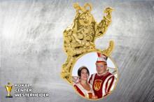 Karnevals Orden mit Foto in gold ST8996