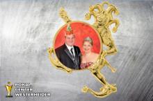 Karnevals Orden mit Foto in gold ST9033