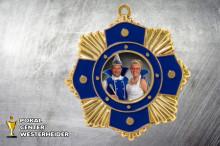 Karnevals Orden in gold ST9190 mit Foto