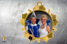 Karnevals Orden in gold ST9229 mit Foto