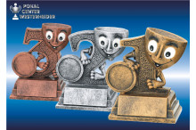Lustige Kinderfigurenserie gold-silber-bronze