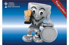 Kinderfiguren-Trophäe mit Pokal