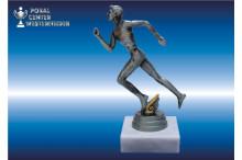 Marathon-Laufsportfiguren (Herren) Edelsilber-Look