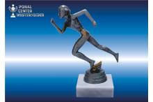 weibl.- Laufsport-Marathonfiguren silberantik