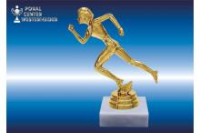 Leichtathletikfiguren Damen goldglanz