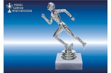 Läufer-Marathonfiguren (Herren) silberglanz