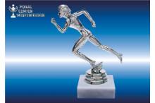 weibl.- Laufsport-Marathonfiguren silberglanz