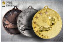 Fussball-Medaillen ST9188 gold-silber-bronze