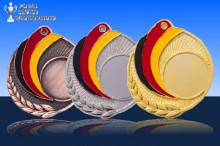 Medaillen ''GERMANY'' ST9218 gold-silber-bronze