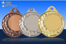 Medaillen Halbranke ST9283 gold-silber-bronze