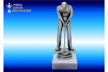 Minigolf-Figuren edelsilber männlich