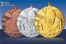 Schwimm-Medaillen Freistil in gold-silber-bronze