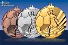 Medaillen Fußball Jugendchamp in gold-silber-bronze