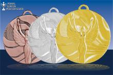 Sieger Victory Medaillen in gold-silber-bronze