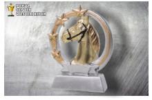 Pferdesport Figur silber-gold ST39358