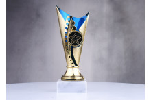günstige Pokale in blau-gold ST31560