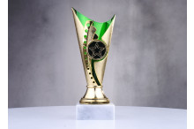 günstige Pokale in grün-gold ST31566