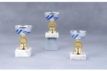 Preiswerte Cup Pokale gold-silber-blau 7006