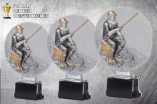 Angler Figuren-Serie  Resin ST39130 silber-antik
