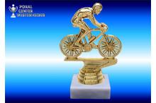 Radsportfiguren in goldglanz-Effekt
