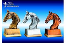 3er Reitsport Figurenserie gold-silber-bronze