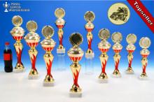 Rollkunstlauf-Pokalserie in 10 Größen mit Flammendekor