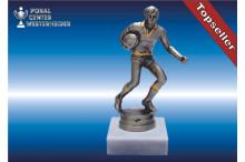 Rugbyfiguren in silberantik