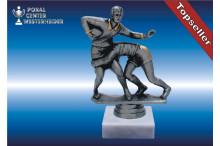 Rugbyfiguren-Trophäen in silberantik