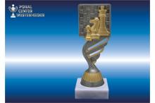 Schach-Trophäen BP419.22 silber-antik
