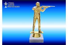 Sportschütze-Figur Freihand in gold