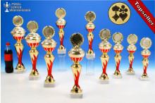 Skat-Pokalserie in 10 Größen mit Flammendekor