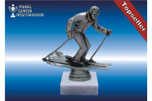 Skislalomfiguren in silberantik