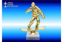 Snowboardfiguren in goldglanz
