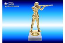 Sportschützin-Figur Freihand in gold