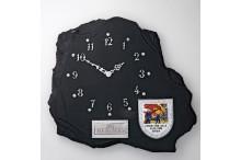 Schieferlook Wanduhr inklusiv Gravur und Emblem