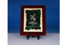Ehrentafel mit Targa und Lasergravur Urkunde grün
