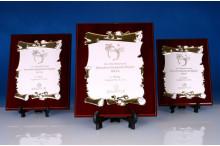 Ehrentafel mit Targa und Lasergravur Urkunden-Form weiss