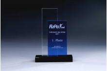 Double Glass Award clear and blue 2x10mmStärke