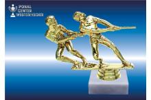 Tauziehen Figuren in gold