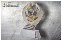 Tennis Figur Herren silber-gold ST39366