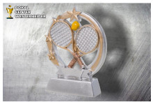 Tennis Trophäen ST39365 silber-gold