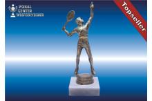 Herren-Tennisfigur in silberantik (edelsilber-look)