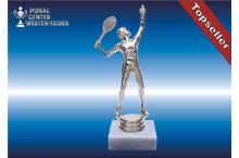 Herren-Tennisfigur in silberglanz